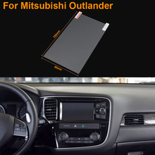 Car Styling 7 Inch GPS Navigation Screen Steel Protective Film For Mitsubishi Outlander Control of LCD Screen Car Sticker