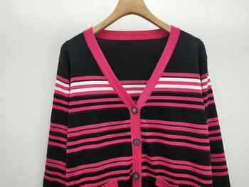 2019 AUTUMN WINTER WALLA ERA WOMEN SWEATERS CASUAL STRIPE LADIES SWEATERS COLORED BLACK AND PINK FEMME SWEATER 2 COLORS