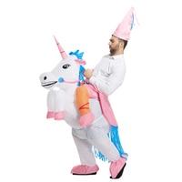 Unicorn Pegasus Inflatable Halloween unicorn clothing adult inflatable flying horse princess high-grade suit costumes free