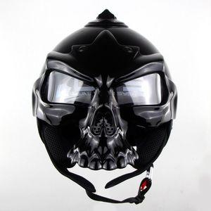 Image 4 - DOT Skull Motorcycle helmet Retro half face Chopper helmets Motorbike Capacete Moto Cascos Racing Armet Masei