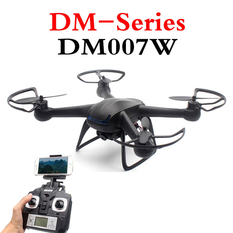 ФОТО New listing FPV DM007W Drone 2.4G 4CH 6 Xis RC Helicopters With WIFI Real-Time Video HD 2MP Camera RTF Drones
