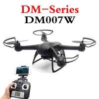 Nowa oferta DM007W Drone FPV 2.4G 4CH 6 Xis RC Śmigłowce Z WIFI 2MP HD Wideo W Czasie Rzeczywistym Drony Camera RTF