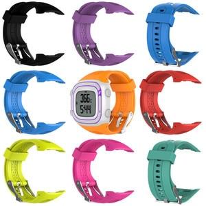 Image 1 - Bracelet de montre en Silicone pour Garmin Forerunner 10 15 GPS montre de sport en cours dexécution petit grand pour les femmes hommes bandes de remplacement avec des outils