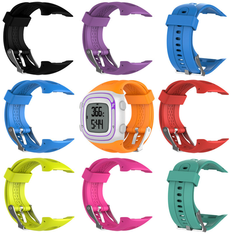 Silicone Watch Strap for Garmin Forerunner 10 15 GPS Running Sports Watch Small Large for Women Men Replacement Bands with Tools