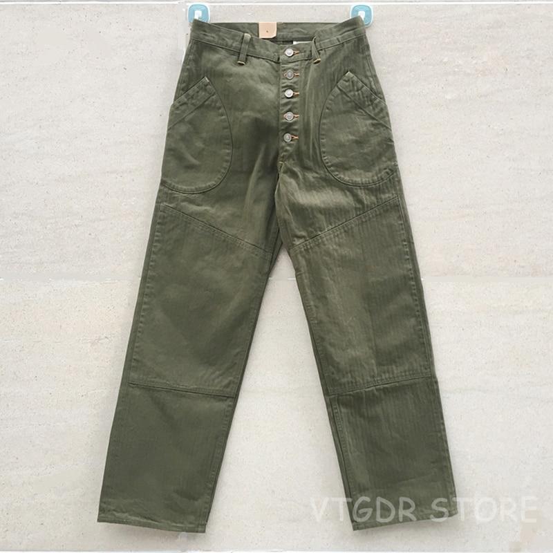 Bob Dong OG-107 HBT Hosen Selvage Vintage N-1D Tasche Casual Hosen Für Männer