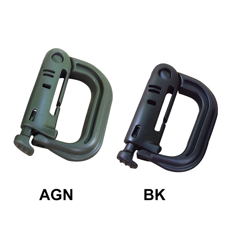 Safety Buckle Tactical Shackle D-type Buckle  Carabiner Clip Clasp Small Plastic D Ring Key Chain  Quick Hanging Buckle USPS