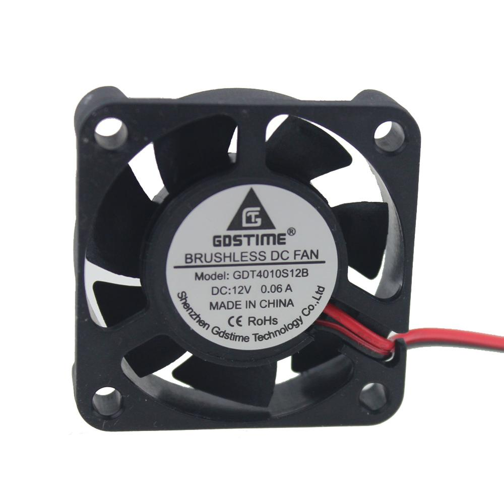 5pcs 2pin 2.0 40MM 4cm 40x10mm 12V DC Brushless Cooling Fan Cooler Fan 4010S