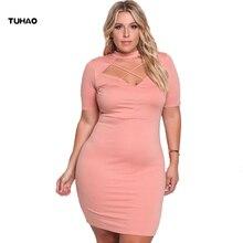 Tuhao Лето праздничное платье плюс Размеры XXXL Для женщин короткий рукав выдалбливают Платья для женщин повседневные Большие размеры Longo Vestidos De Renda bc23