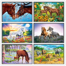 5D full round diamond embroidery cross stitch polar bear diy animal horse rhinestone painting