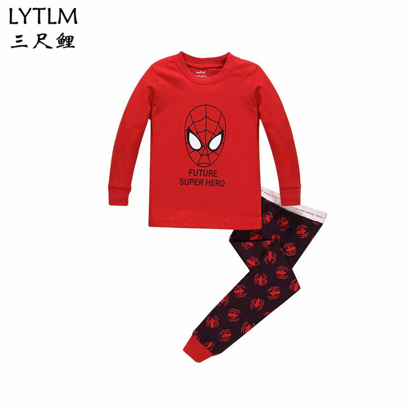 LYTLM Avengers Marvel Camiseta Spider-man Homecoming Suit Kids Baby Boy Clothes Long Sleeve Sports Suits T-shirts + Pants Cotton