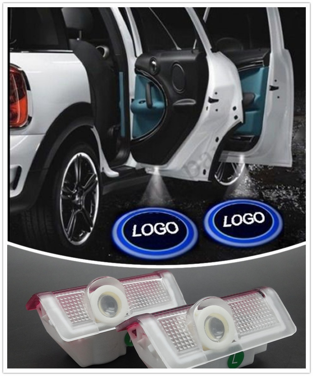 1 Set LED Car Door Logo Light Welcome Benz Ghost Shadow 3D Laser Projector Mercedes W166 W212 Etc.  -  DG Auto Parts Store store