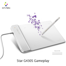 XP-Ручка G430S 4×3 дюймовый Ультратонкий Планшет Графический Планшет для ОГУ с без Батареи стилус дизайн! геймплей