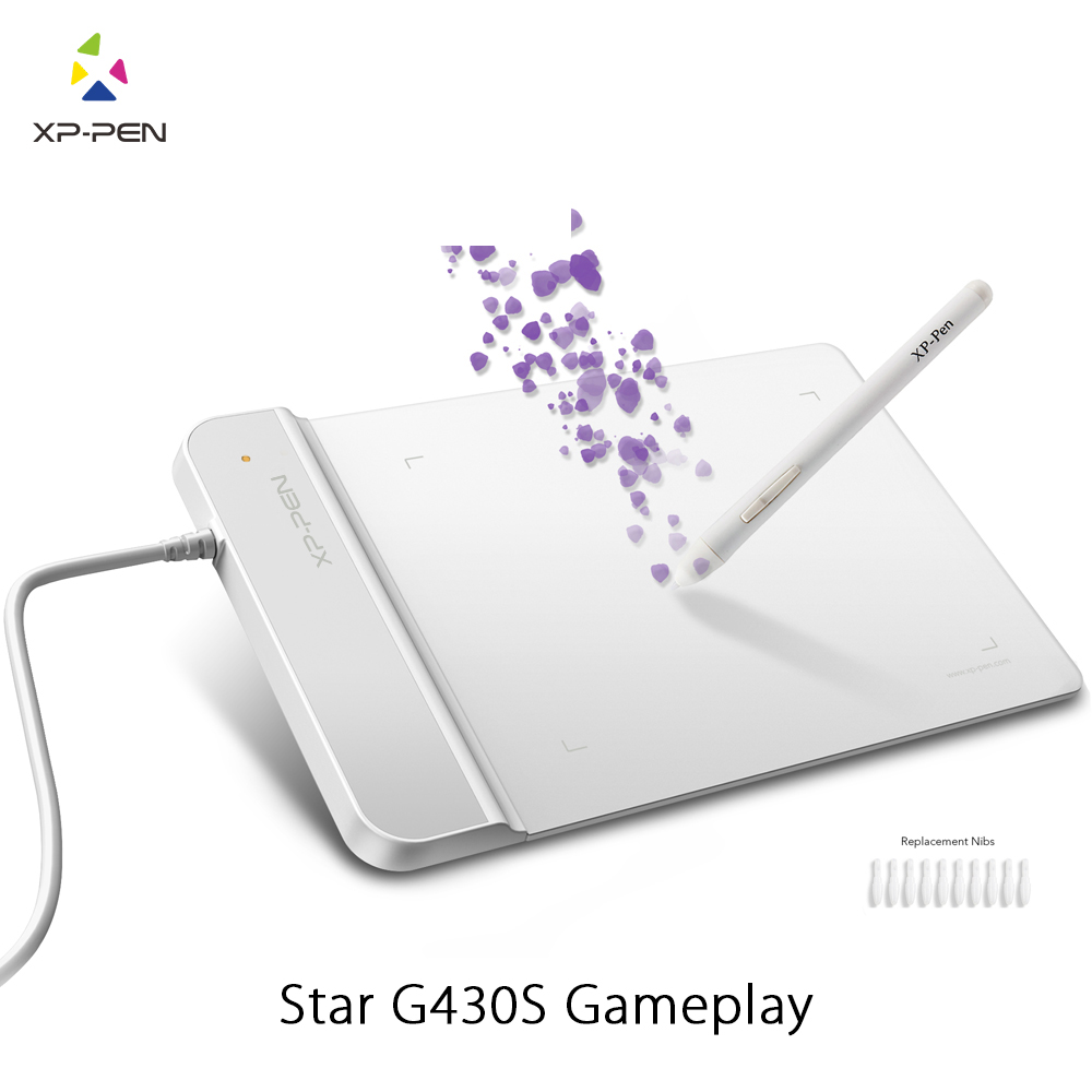 XP-Pen G430S Tecknings Tablet Grafisk Tablet 4 x 3 tums målplatta för OSU med batteridriven stylusdesignad! gameplay