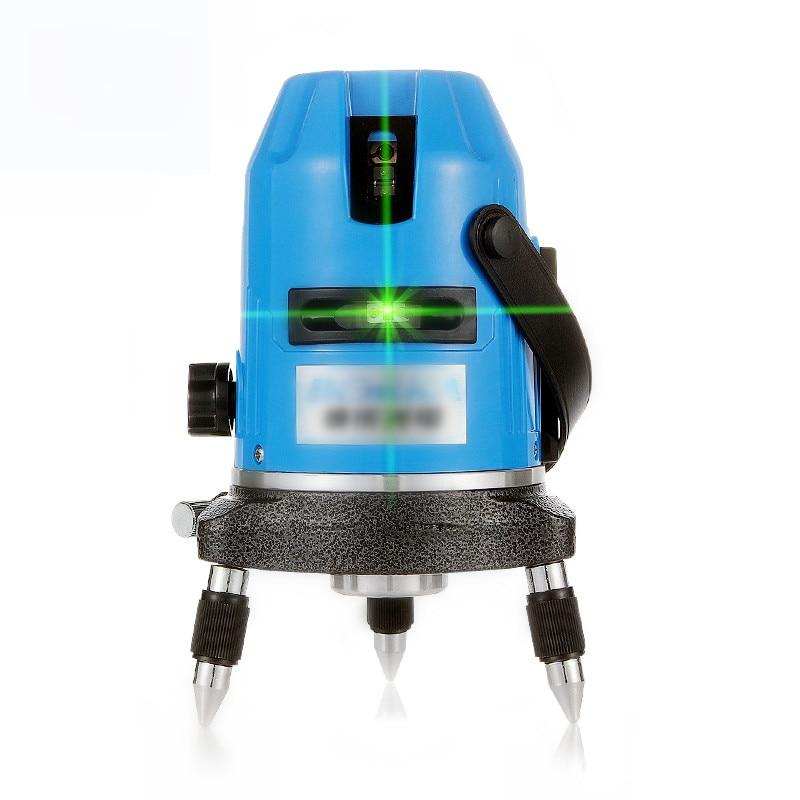 5 линий 6 точек супер яркий зеленый линии лазерный уровень Nivel Лазерная 360 градусов Поворотный крест лазерный строительные инструменты