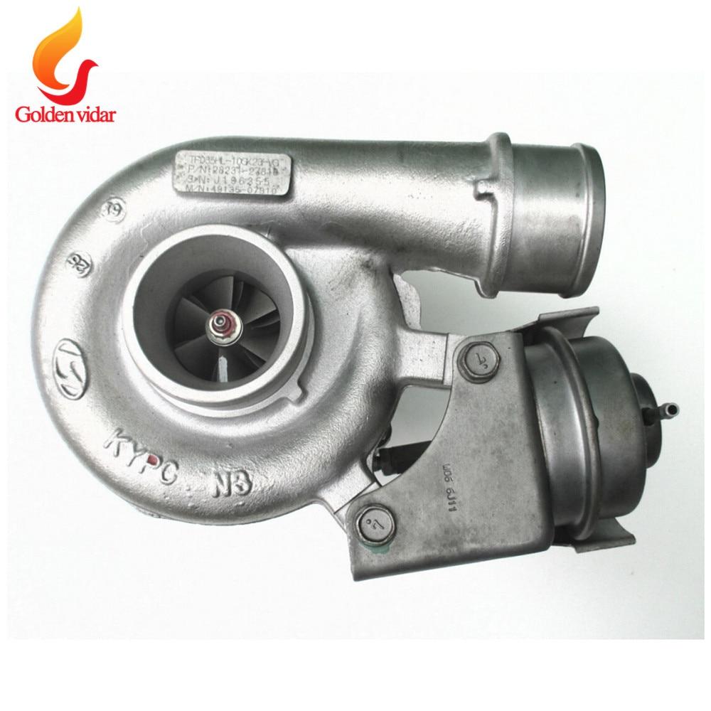 Pour Hyundai Santa Fe 2.2 CRDI D4EB 155 ch/114 KW 2006-équilibré TF035 turbo à turbine complète 28231 27810 49135-07310/1