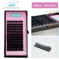 All Size 10 Trays Wholesale Volume Lashes Extension 3D Mink False Eyelashes Individual Eyelash Beauty Brand Factory Supplies
