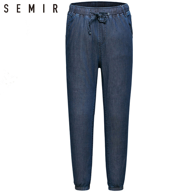ecdd102868a124 SEMIR джинсы мужчины jogger Штаны мужские классические джинсы мужские  джинсовые спортивный шик Штаны дизайнерские брюки Повседневное