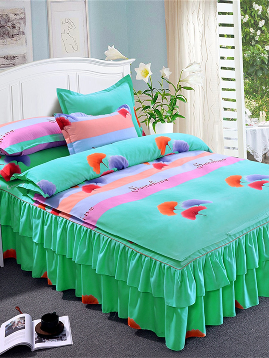 4Pcs Duvet Cover Set Colorful Pattern Comfortable Durable Bedding Set 4Pcs Duvet Cover Set Colorful Pattern Comfortable Durable Bedding Set