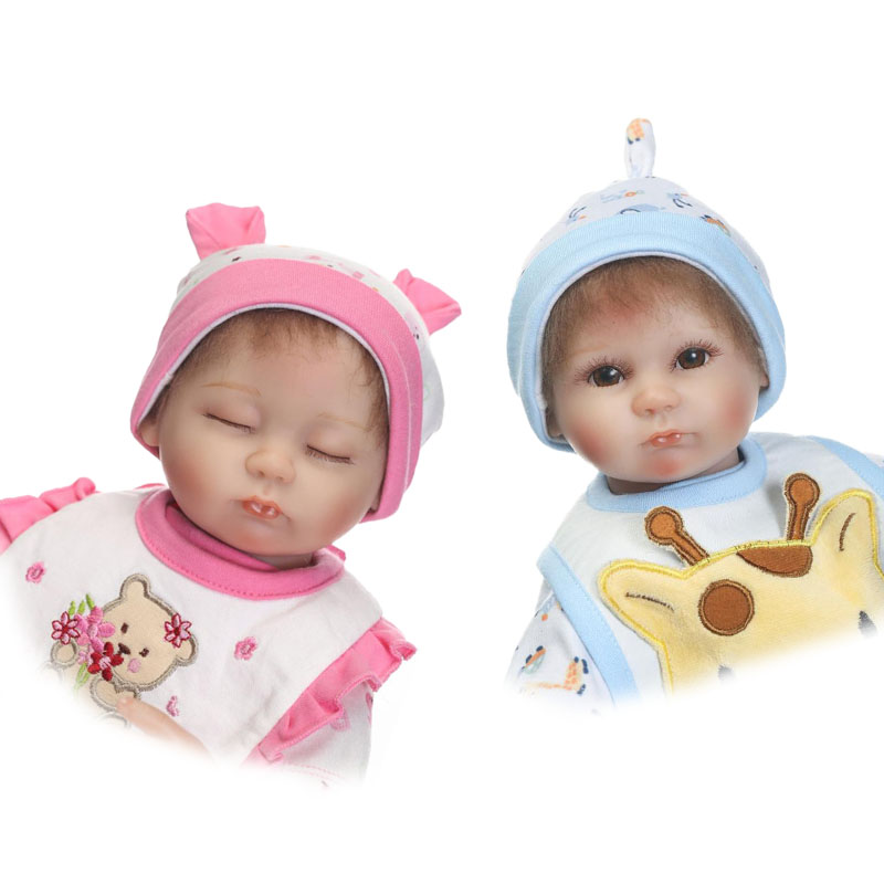 NPKCOLLECTION 17'' Reborn Baby Dolls For Sale Lifelike Silicone So Truly Girl or Boy Twins Dolls Reborn Kids Baby Toy Xmas Gifts smile reborn girl with blue dress 22 lifelike baby dolls soft silicone fashion kids toy xmas gifts reborn baby doll for sale