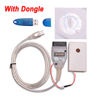 With Dongle VAG TACHO USB Version 5.0 Cable Support VDO with 24C32 or 24C64 VAG Kombiinstrument Immo Box Eeprom Programmer Tool