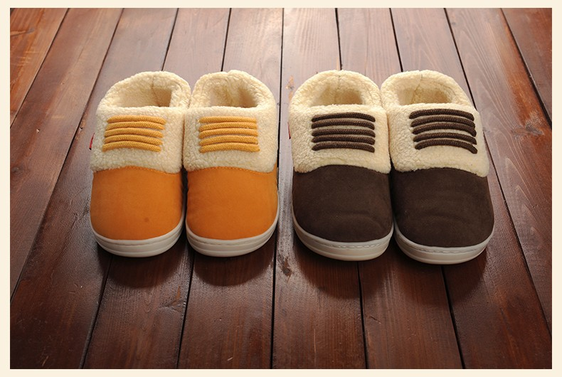 FAYUEKEY/зимние теплые домашние тапочки с хлопковой подкладкой; домашние теплые тапочки для влюбленных; обувь на плоской подошве;