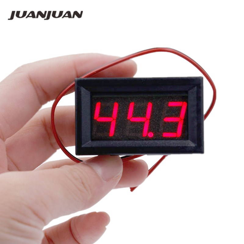 Red LED Panel Mini Digital Two-wire Voltmeter DC 5V To 120V Voltage Tester Volt Meter For Car 10%Off