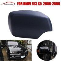 Право Matte Black Для BMW E53 X5 2000-2006 Двери Автомобиля Зеркала Заднего вида Крышка Боковое Зеркало Крышка + LED Шаг Свет Отверстие C/5