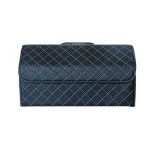 Автомобильный багажник коробка для хранения сумка органайзер 54 см длина мульти-использование искусственная кожа автомобильное сиденье назад органайзеры интерьерные аксессуары
