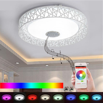 APP LED Ceiling Light With Bluetooth speaker 36W Music Party Lamp Deco Bedroom Music Lighting Fixture With Remote Control