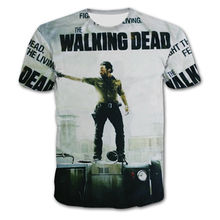 The TWD 3D Tees!Hot Showing Walking Dead Characters Printed T-shirts Fashion Short Sleeve Tops Plus Size S-5XL drop shipping
