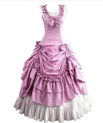 Costumes d'halloween pour femmes adulte sud belle costume rouge robe victorienne robe de bal gothique lolita robe grande taille personnalisé - 3