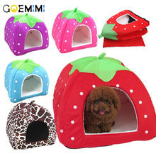 Fashion Soft Dog House,Strawberry Shape,Lovely Bed,Warm Corduroy Cute Cat House,Lovely Pet Bed For And Small Dogs