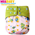 Miababy OS Charcoal Bamboo AIO Cloth Diaper  One Size Diaper, with a sewn in charcoal bamboo insert