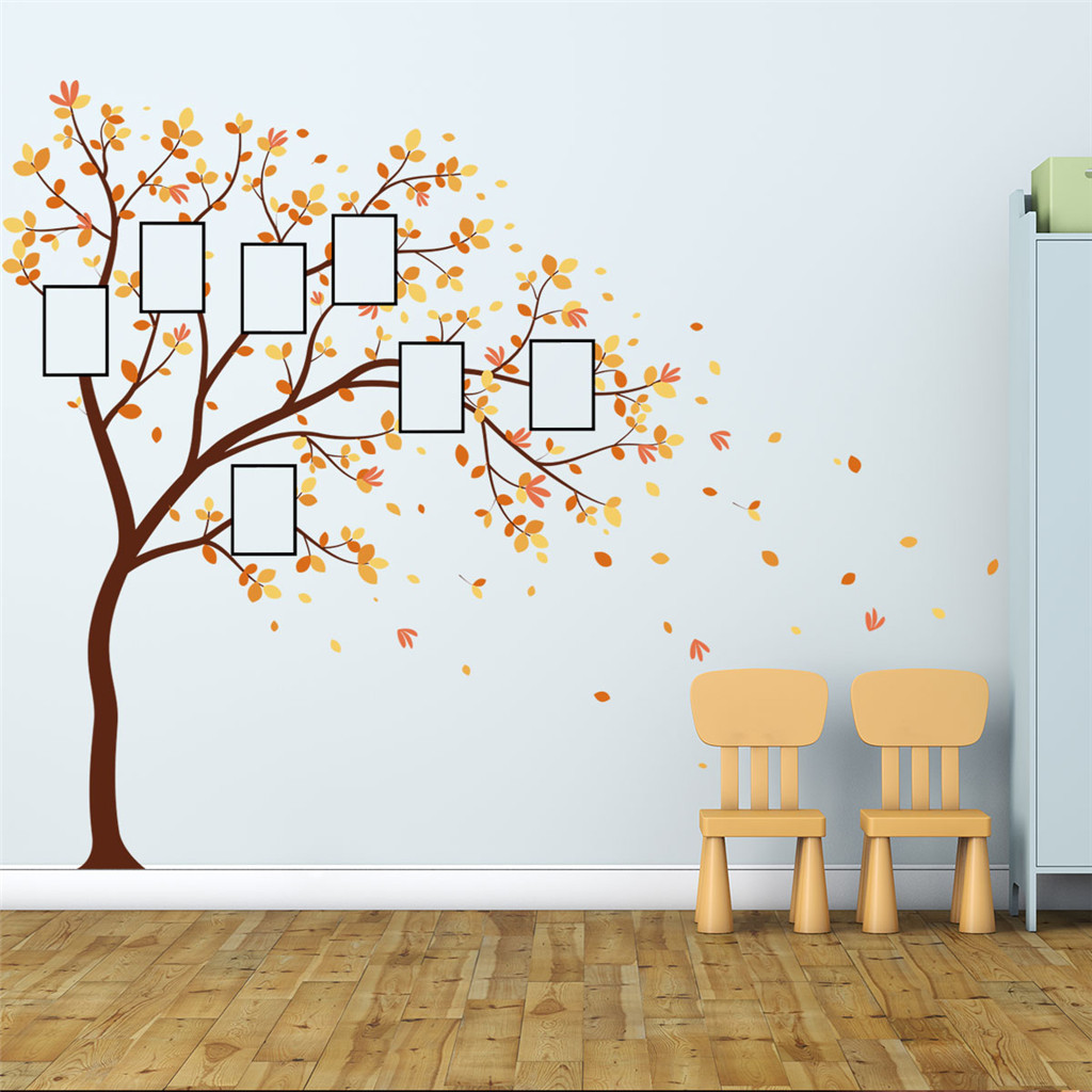 Image 2 - Family Photo DIY Photo Tree Mobile Creative Wall Affixed With Decorative Wall Stickers Window DecorRoom Bedroom Decals Posters-in Wall Stickers from Home & Garden