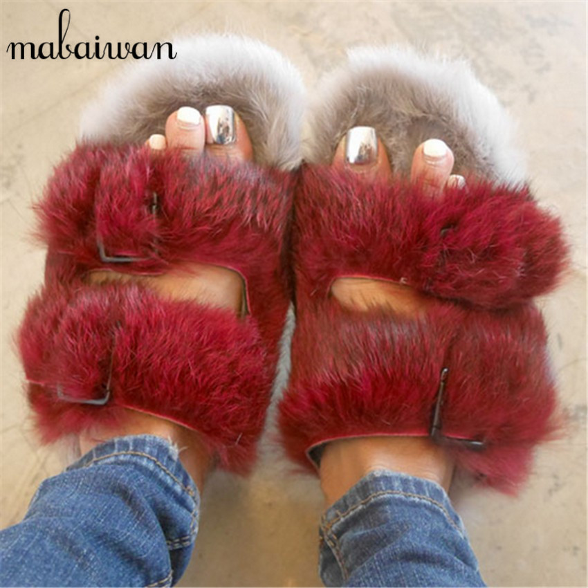 Simple ShoeMetro  Fur Lined Slides