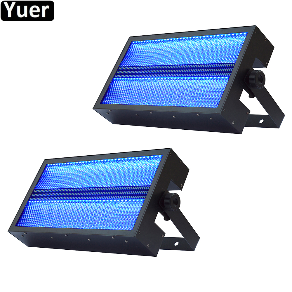 2Pcs/Lot SuperBright Strobe Light LED RGB 3IN1 Wash Strobe Effect 2IN1 DJ Disco Light Color Party Flashing Stage Strobe Lighting