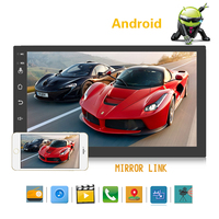 2 Din Android Car Radio Multimedia 7 Universal Hd Multimedia Player Touch Screen Auto Audio Car Stereo Mp5 Bluetooth Usb 16g