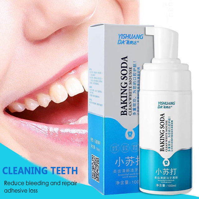 New 100ML Soda Mousse Tooth Cleansing Foam Toothpaste Cleaning Mousse Fresh Tone Remove Stain Teeth Whitening Oral Care TSLM2