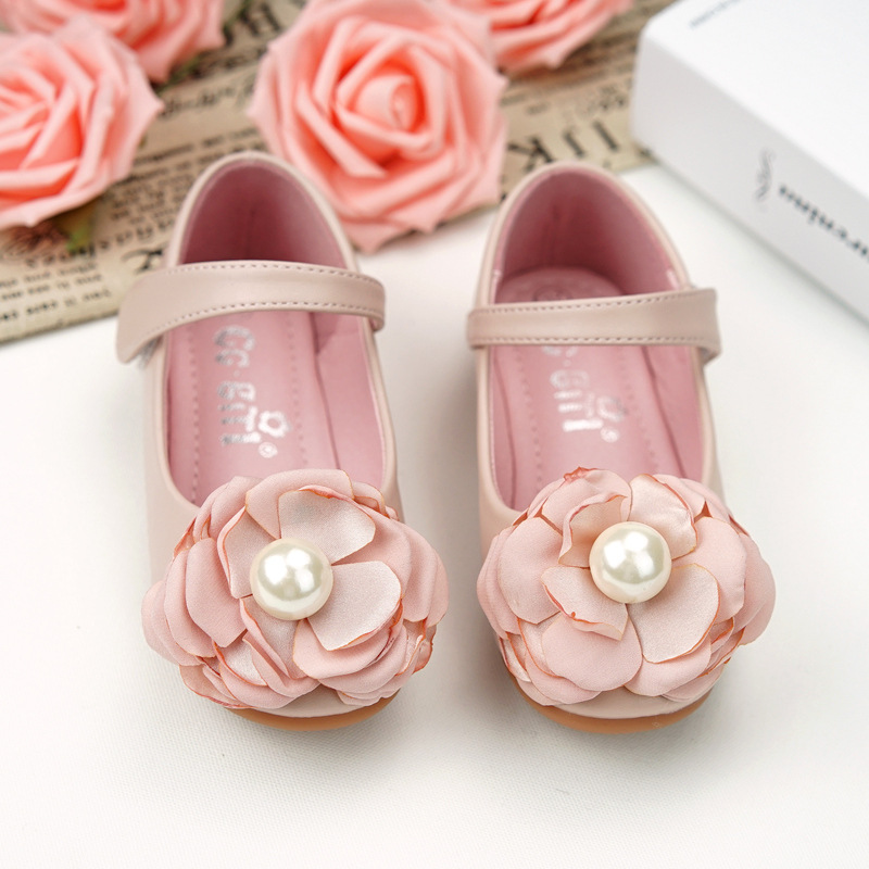Girl Children Toddler Kid Flower Shoes Princess Girls Shoes Bow Flat Dress Party