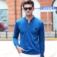 2017 Hot Sale Fashion Men Polo Shirt Long Sleeve Cotton Shirt Spring Autumn Male Casual Full Sleeve Shirt Size M-3XL