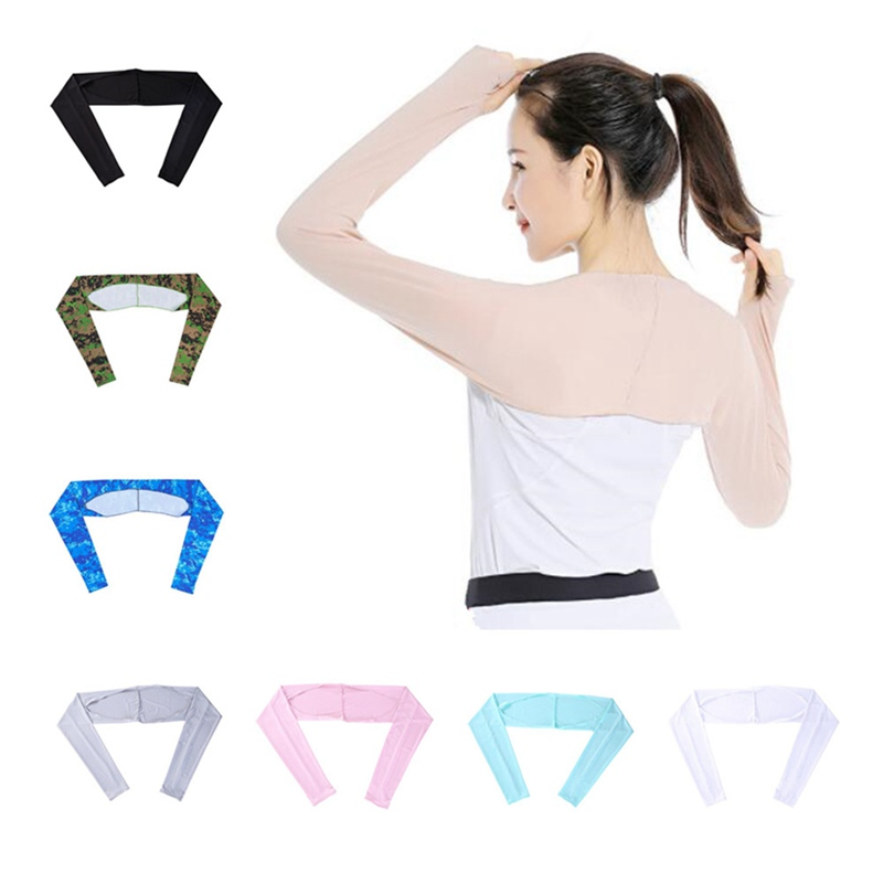 1pcs New Womens Arm Sleeve Shrug Sun Protection Anti-UV Cooling Shawl Riding Driving Outdoor Summer QLY9596