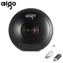 Aigo Mini Ai360 Mobile Phone Panoramic Camera 720 Degree Video Camera Dual Lens with Dual Adapters