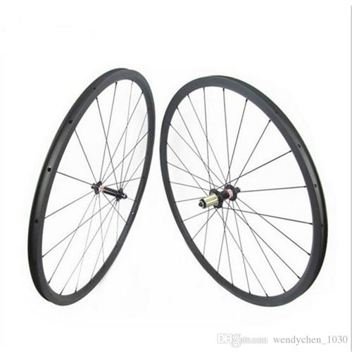 Clincher Bike Wheelsets 24mm 700C UD 3K Weave Carbon Wheelset Front & Rear Set Road Bike Wheelsets W152423C001Clincher Bike Wheelsets 24mm 700C UD 3K Weave Carbon Wheelset Front & Rear Set Road Bike Wheelsets W152423C001