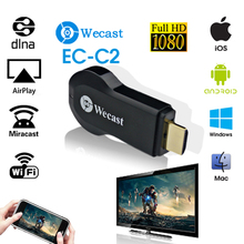 WECAST Mirroring Airplay TV STICK Wireless Display Receiver Dongle HDMI 1.3 HD output Free Wifi Receiver For Projector