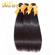 ALI BFF Hair Weave Bundles 3 Bundles Brazilian Straight 100% Human Hair Extensions Remy 3 PCS Natural Color Can Be Dyed(China)