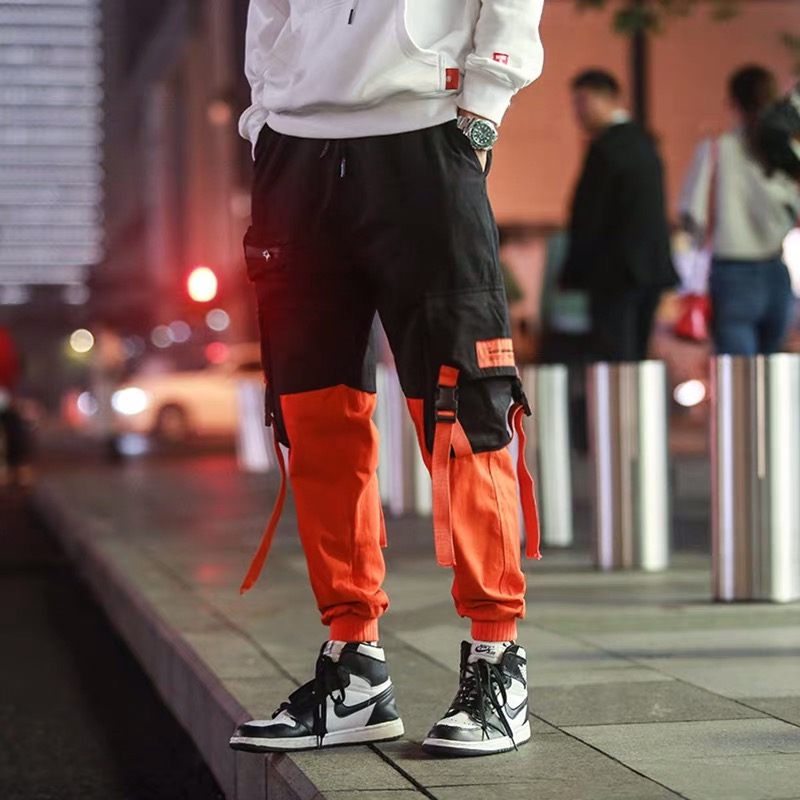 Hip Hip Pants Vintage Color Block Patchwork Corduroy Cargo Harem Pant Streetwear Harajuku Jogger Sweatpant Cotton Trousers 2020 4