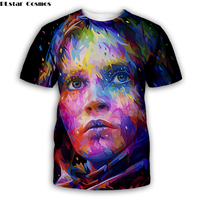 colorful Star Wars by Alessandro Pautasso Artist Tees 3D Print t shirt Men Women sleeve streetwear top