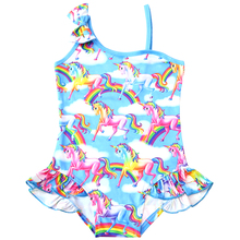 2019 New Toddler Unicorn children swimsuit for girl one piece baby girls unicorn kid bathing suit swimming costume 0336