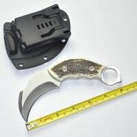 Outdoor Karambit messer Jagdmesser Camping Werkzeug Überleben Taktisches Messer edelstahl kralle messer + ABS kunststoff Mantel