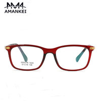 TR90 Spectacle Frames Male Latest Solid Unisex Myopic Glasses Frame AMANKEI Fashion Rectangle Optical Glasses Women